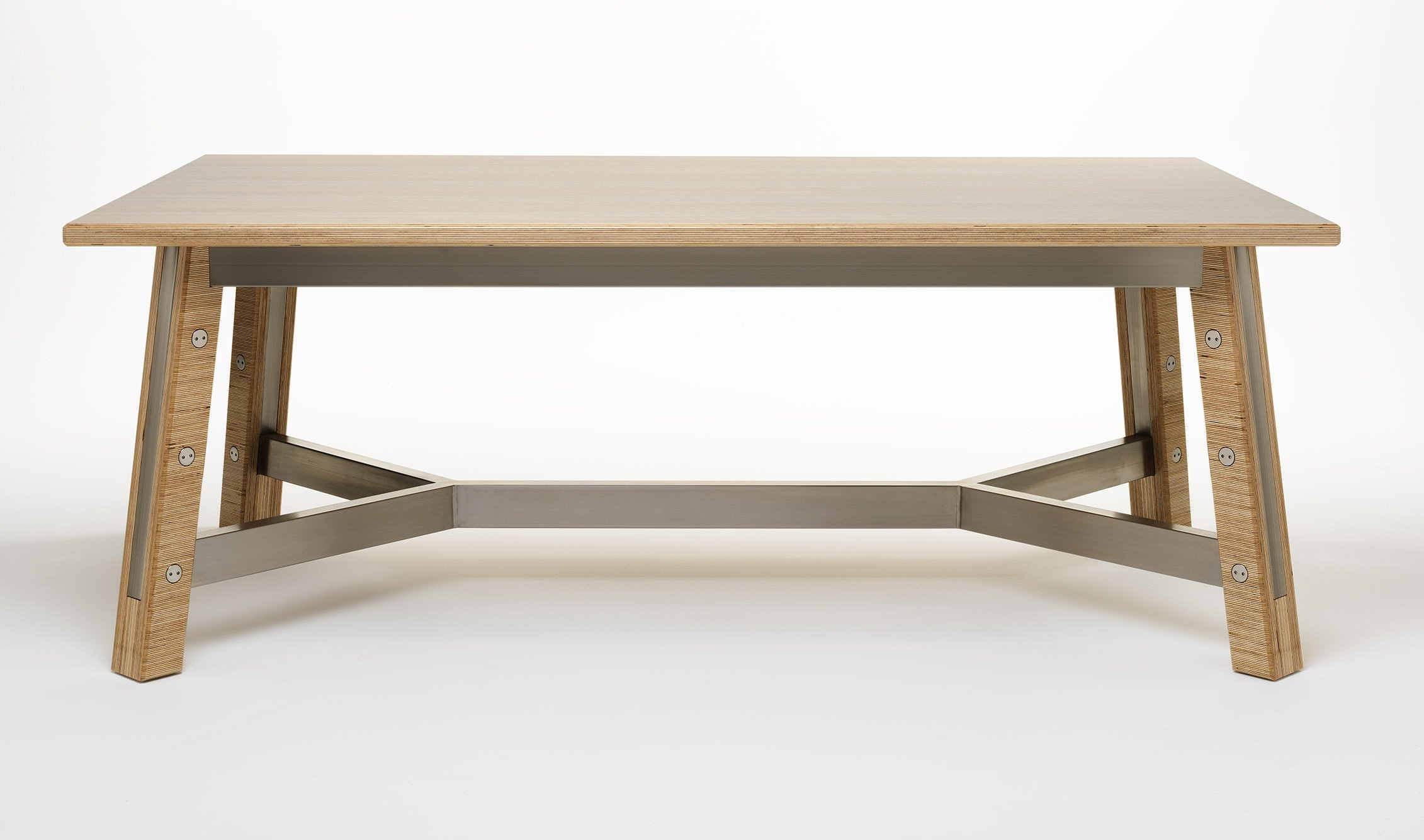 Zedex table timber steel
