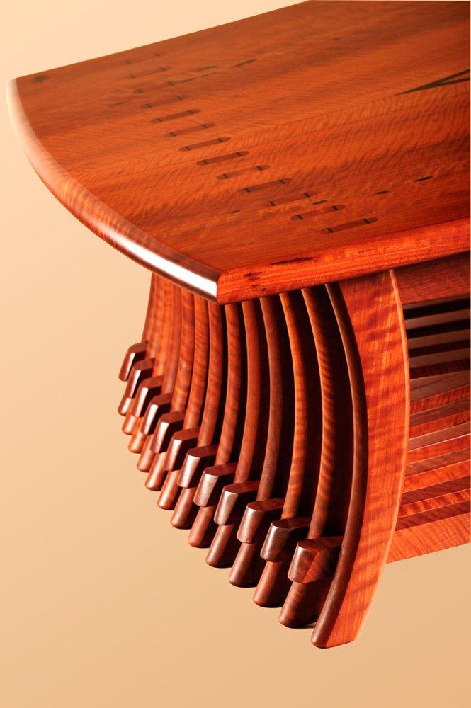Timber art furniture detail by designer maker Gray Hawk