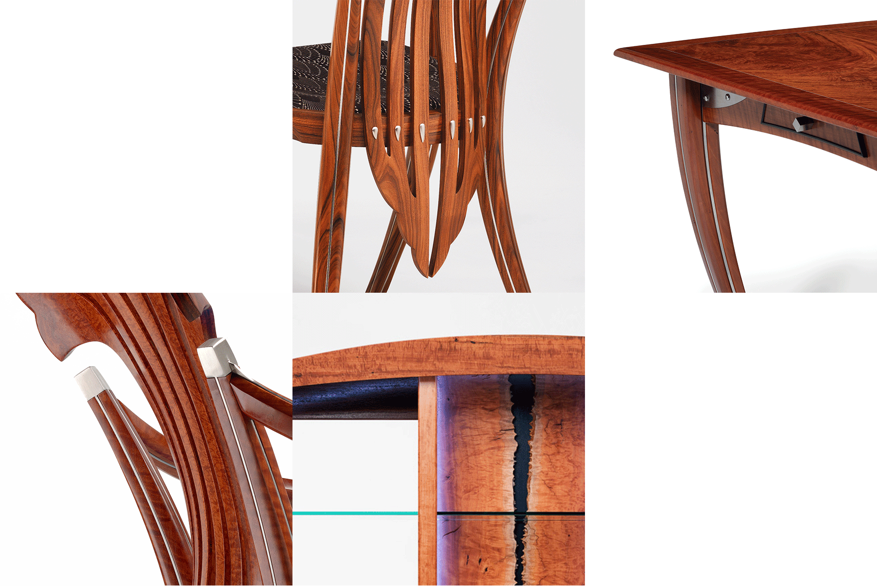 Furniture detail montage by designer maker Gray Hawk