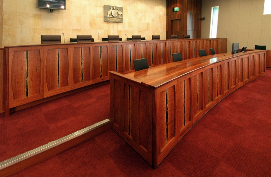 Photo of federal courts furniture design perspective