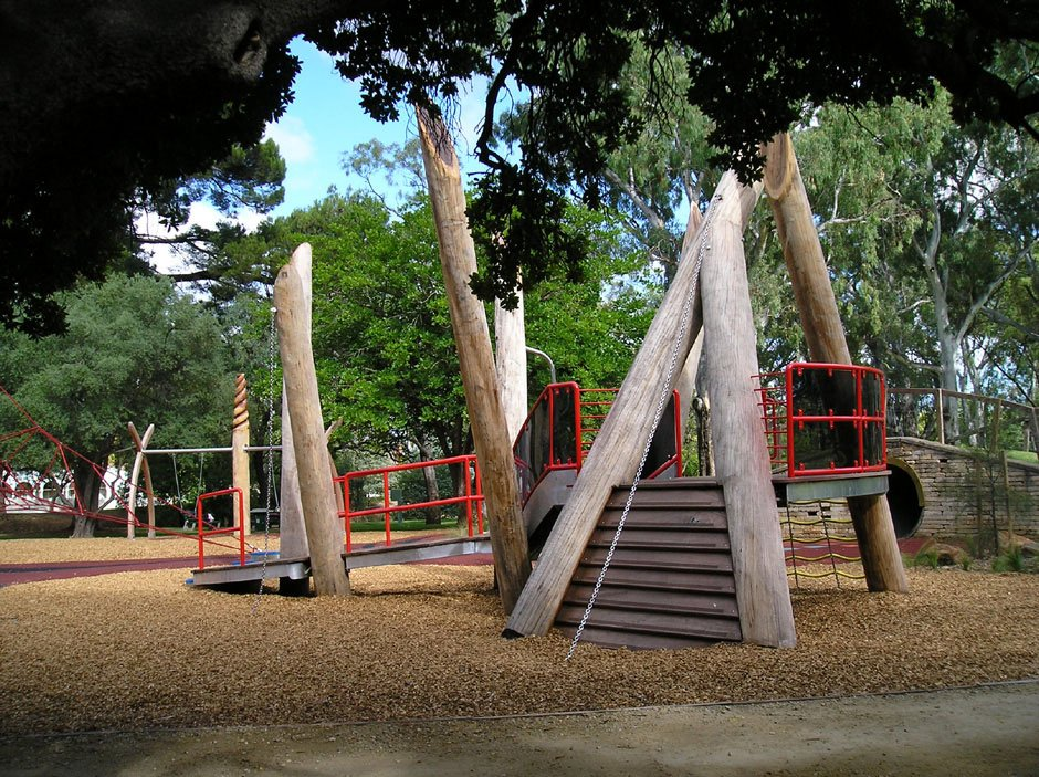 Feature photo of giant's custom designed timber playground